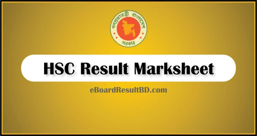HSC Result Marksheet 2019