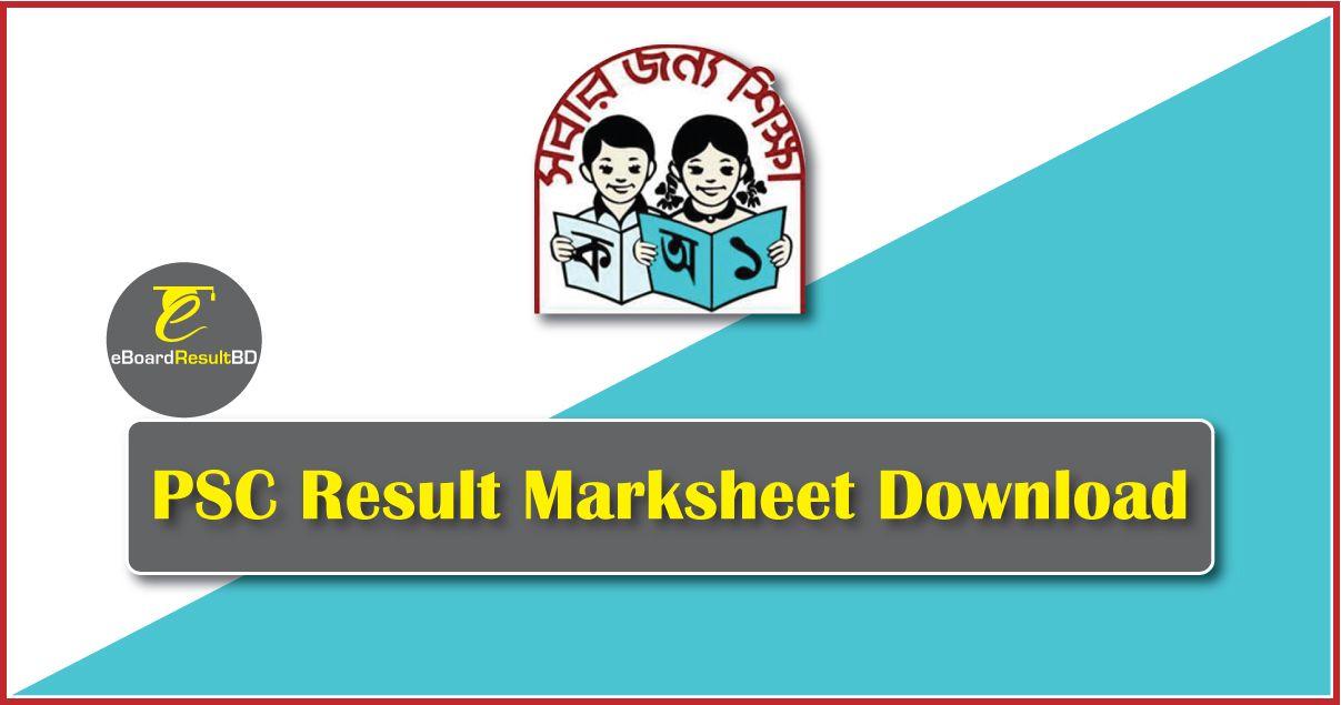 PSC Result Marksheet 2018